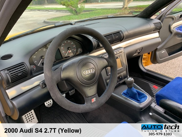 2000 Audi S4 2 7T (Yellow) AUTOtech Tuning & Sales 14225 SW